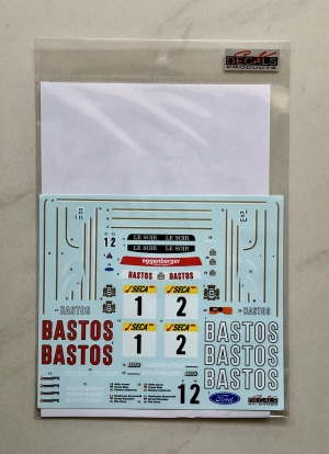 SK24062 Ford Sierra RS500 Spa 24H 89 Bastos Decal Set