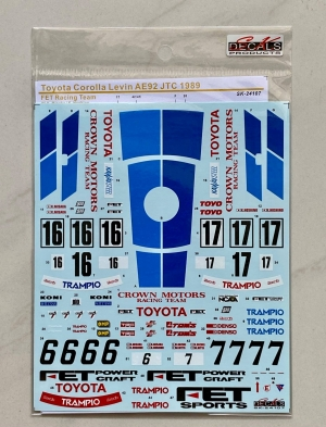 S.K.DECALS SK24107 トヨタ カローラ レビン AE92 JTC 1989