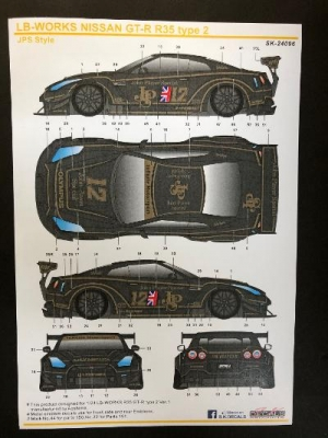 S.K.DECALS SK24096 エルビーワークス ニッサン GT-R R35 タイプ2