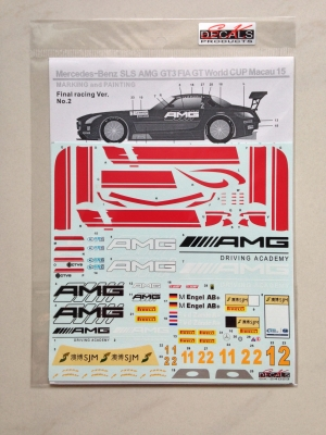 SK24023 Mercedes-Benz SLS AMG GT FIA GT World Cup Macau 15 Decal Set
